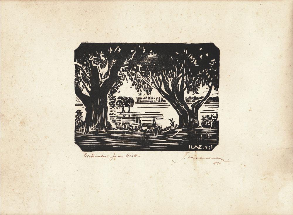 Ionel Lazaroneanu, gravură, 1931, 24x30 cm (2)