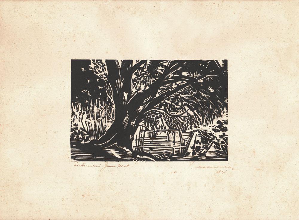 Ionel Lazaroneanu, gravură, 1931, 24x30 cm (3)