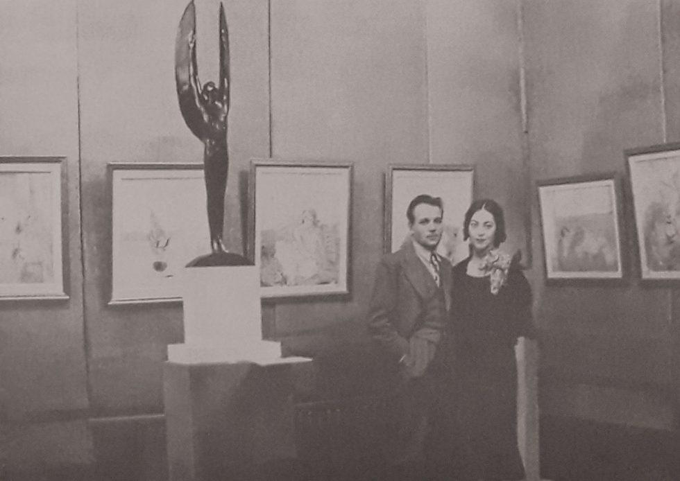 Alexandru Ciucurencu și Ana Asvadurova în expoziția A Ciucurencu, mijlocul anilor 30